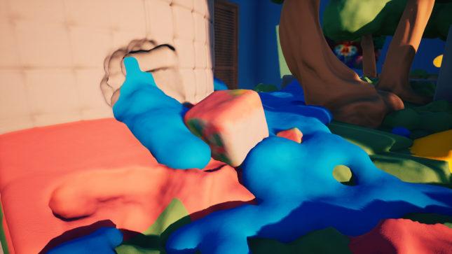Jeu Claybook sur Nintendo Switch : bain de liquide