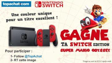 Concours : gagnez le bundle Nintendo Switch rouge avec Super Mario Odyssey