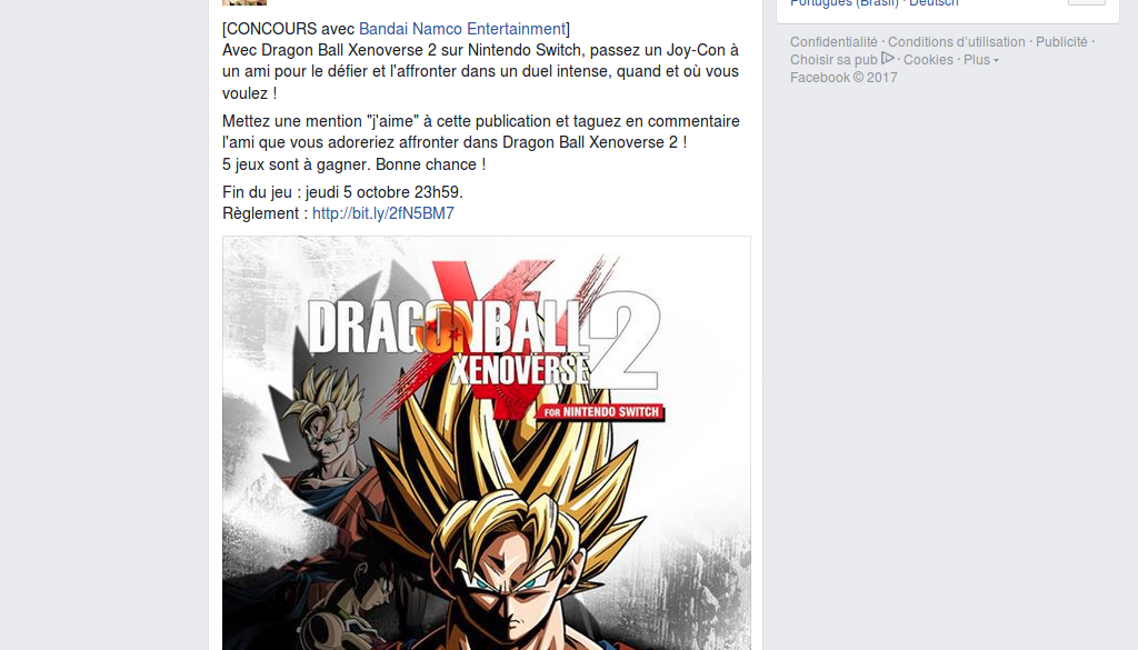 Concours : gagnez 5 jeux Dragon Ball Xenoverse 2