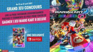 Concours : gagnez 1 exemplaire du jeu Mario Kart 8 Deluxe