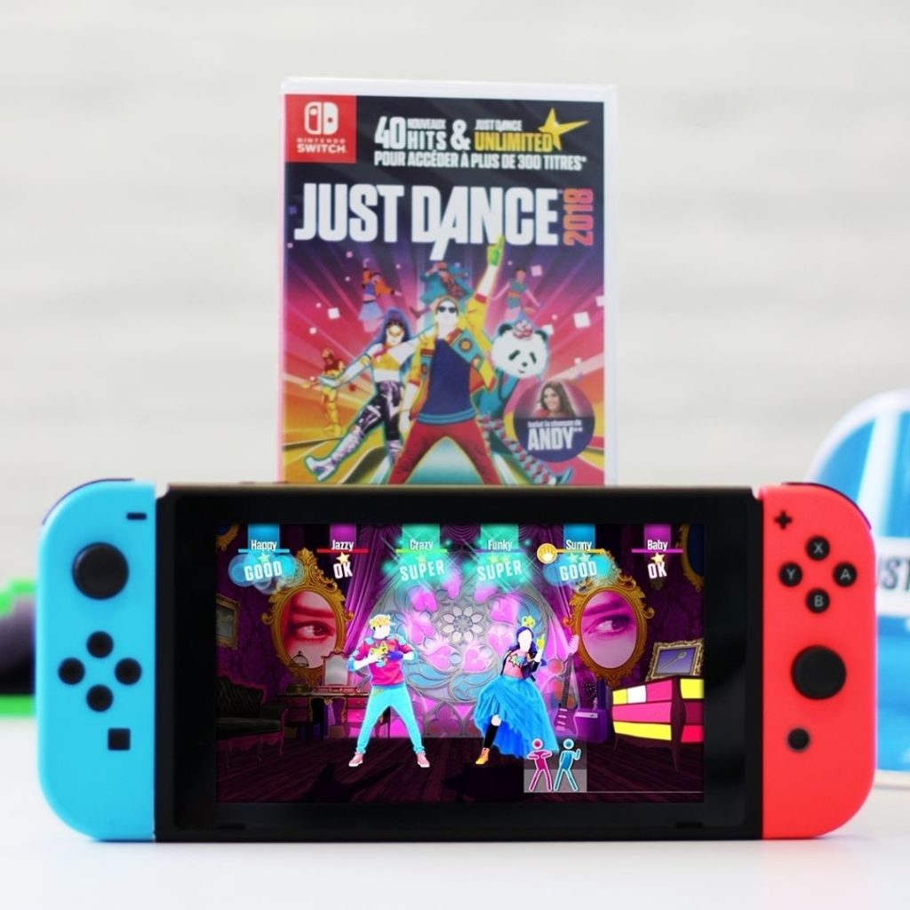 concours 1 nintendo switch avec just dance 2018 gagner nintendo switch fan. Black Bedroom Furniture Sets. Home Design Ideas