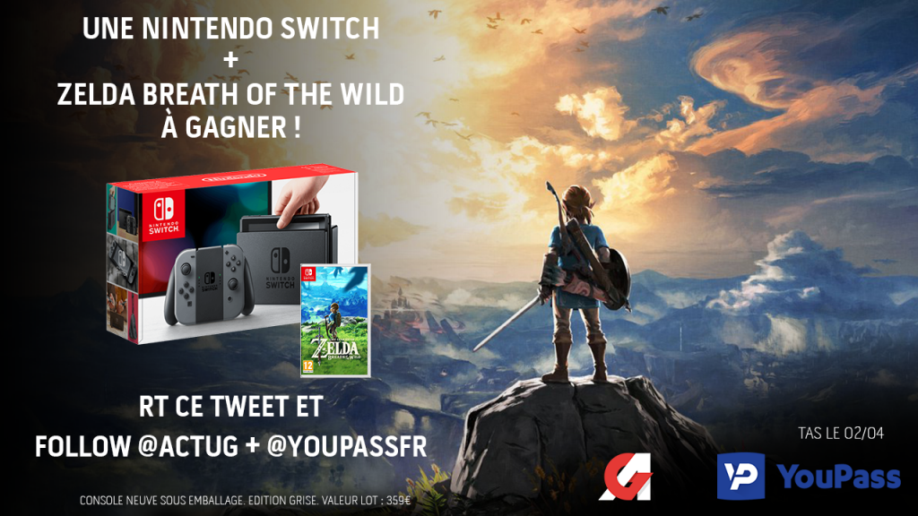 Concours : gagnez un pack Nintendo Switch + The Legend of Zelda : Breath of the Wild