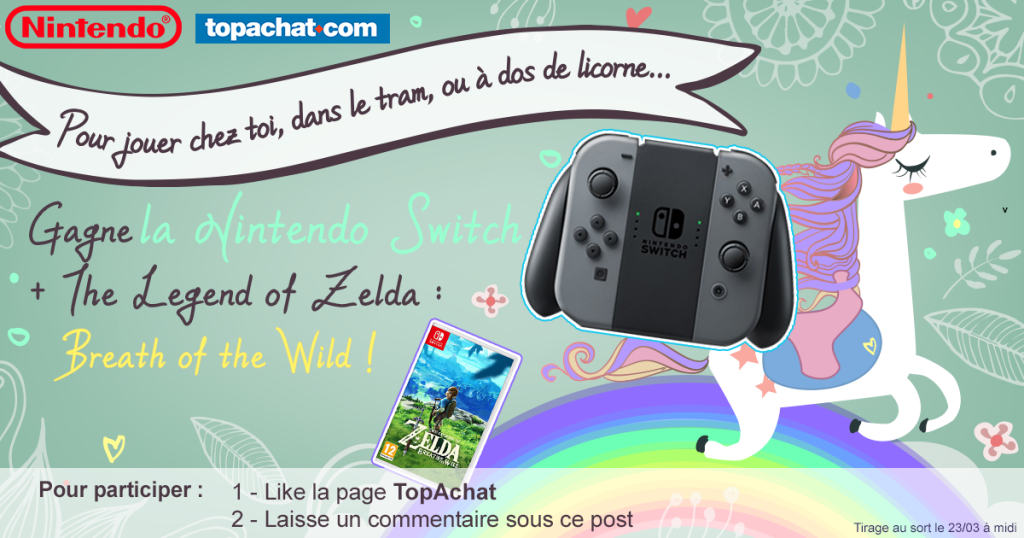Concours : gagnez le pack Nintendo Switch + The Legend of Zelda : Breath of the Wild