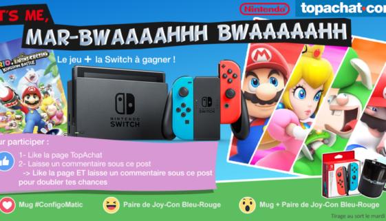 Concours : gagnez une Nintendo Switch néon & Mario + The Lapins Crétins Kingdom Battle