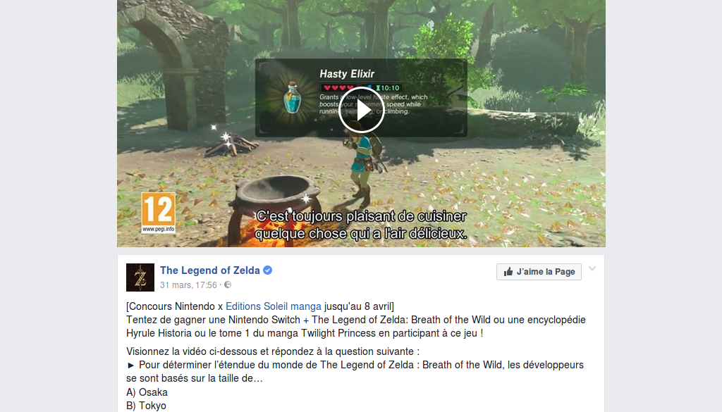 Concours : gagnez un pack Nintendo Switch + Zelda Breath of the Wild et des ouvrages Zelda