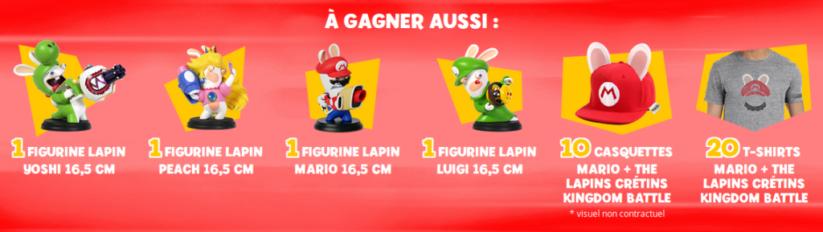 Concours Fnac Mario + The Lapins Crétins Kingdom Battle : lots secondaires