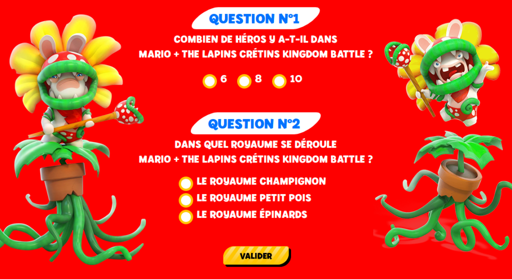 Concours Gagnez 1 Figurine Lapin Mario Taille Réelle 1m50 Et Des