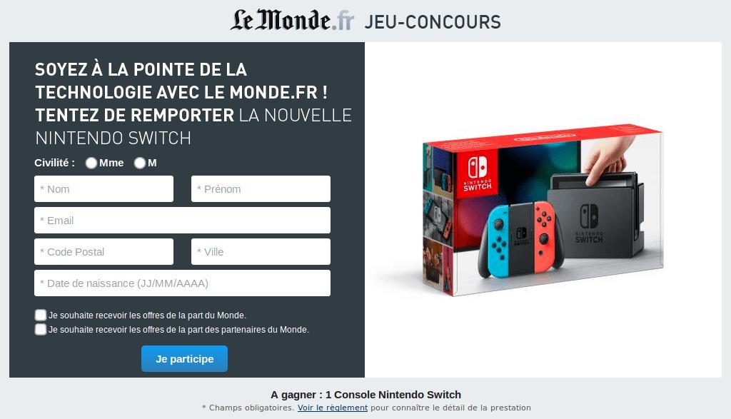 Concours : gagnez une Nintendo Switch avec Joy-Con néon