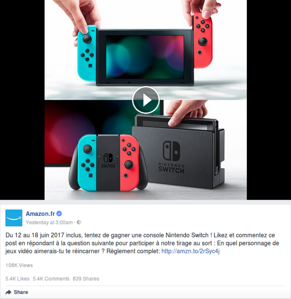 Concours : gagnez une Nintendo Switch néon