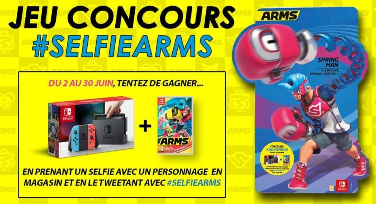 Concours : gagnez une Nintendo Switch néon et le jeu Arms