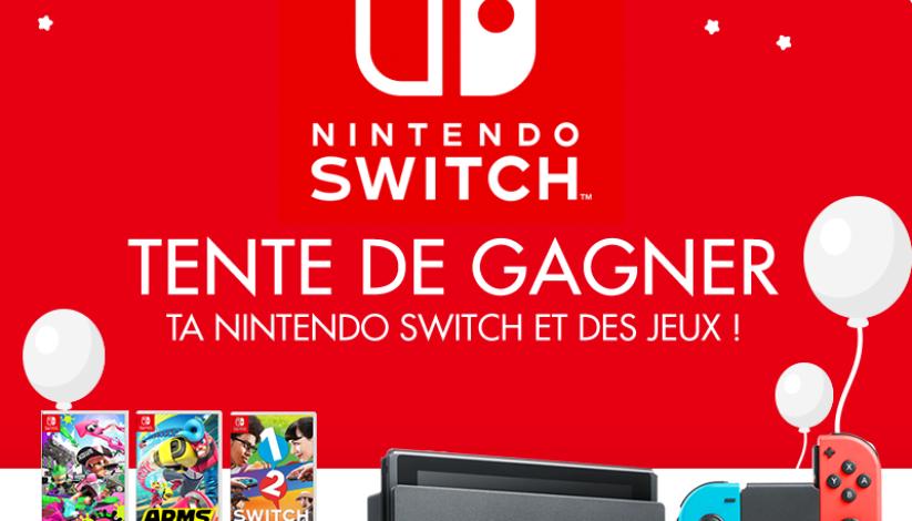 Concours : gagnez une Nintendo Switch néon et de nombreux jeux