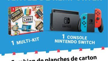 Concours : gagnez une Nintendo Switch néon et un Nintendo Labo Toy-Con 01 : multi-kit pour Nintendo Switch