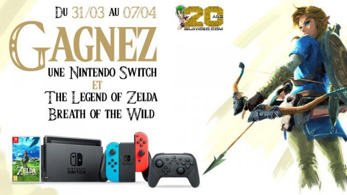 Concours : gagnez un pack Nintendo Switch avec Joy-Con néon + The Legend of Zelda : Breath of the Wild + Manette Switch Pro
