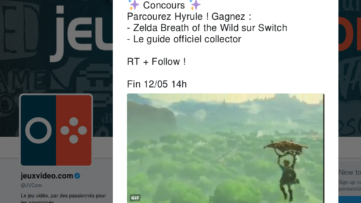 Concours : gagnez le jeu Zelda Breath of the Wild et le guide officiel version collector