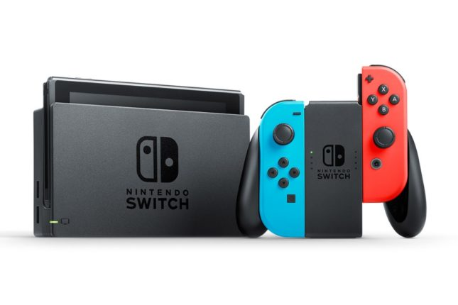 Commander la Nintendo Switch néon