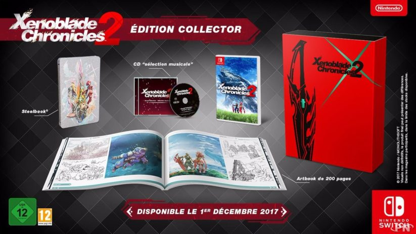 Collector Xenoblade Chronicles 2 sur Nintendo Switch : contenu du pack