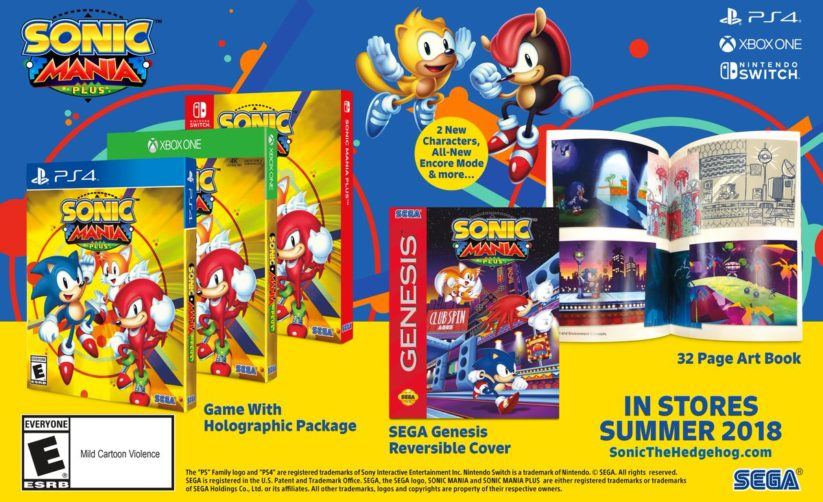 Sonic Mania Plus sur Nintendo Switch : contenu de la version collector