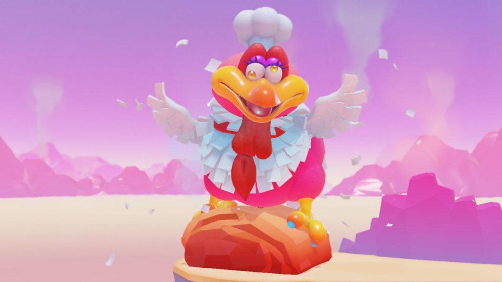 Le cook bird de Super Mario Odyssey