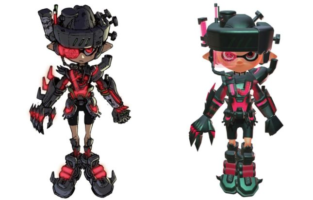 Vêtement Mecha Gear dans Splatoon 2 sur Nintendo Switch