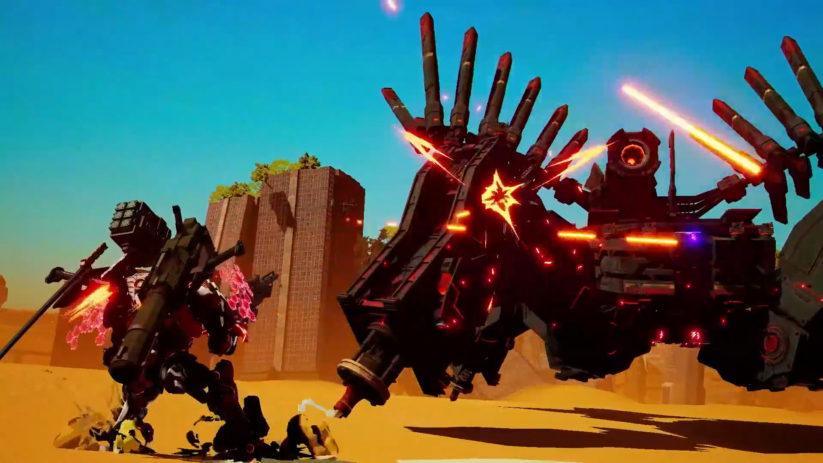 Un jeu à la troisième personne où vous incarnez un robot mécanique