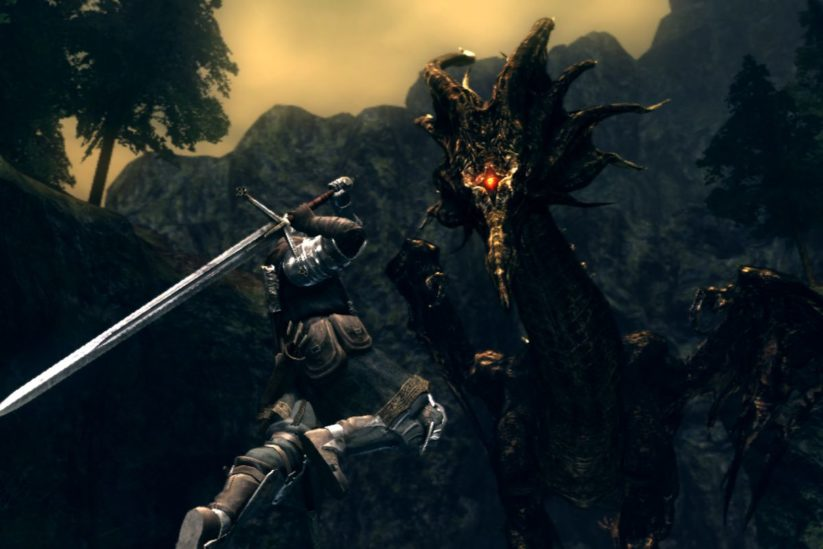 Jeu Dark Souls Remastered sur Nintendo Switch : phase de combat