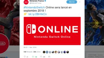 L'online payant (service en ligne) pour la Nintendo Switch arrive en septembre 2018