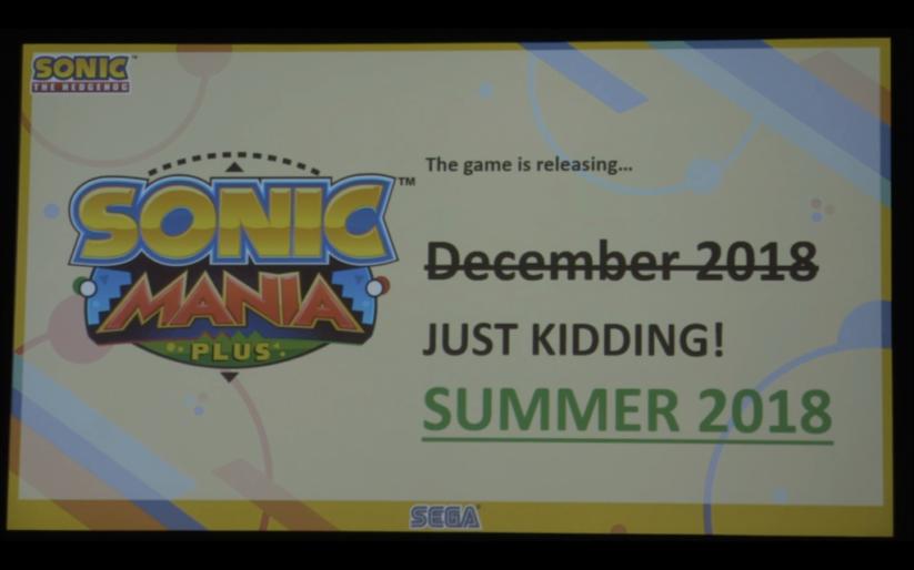 Sonic Mania Plus sur Nintendo Switch : sortie cet été
