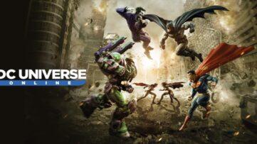 Jeu DC Universe Online sur Nintendo Switch : artwork du jeu