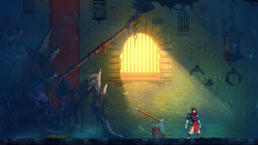 Jeu Dead Cells sur Nintendo Switch : les effets de lumière sont magnifiques