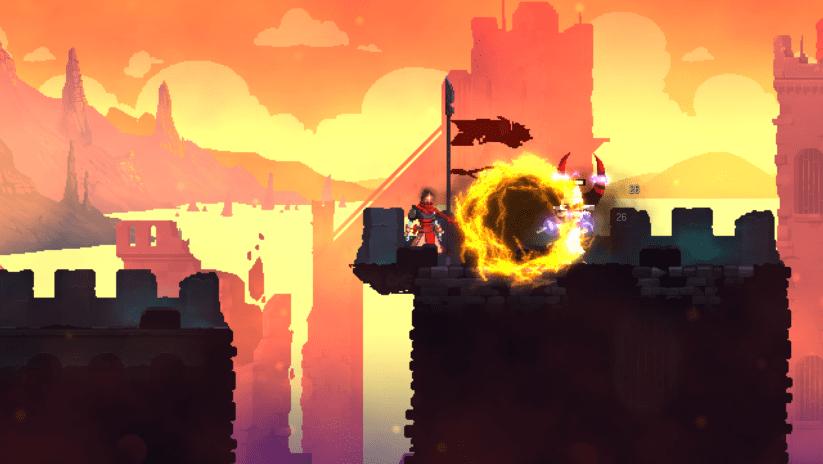 Jeu Dead Cells sur Nintendo Switch : combat au crépuscule