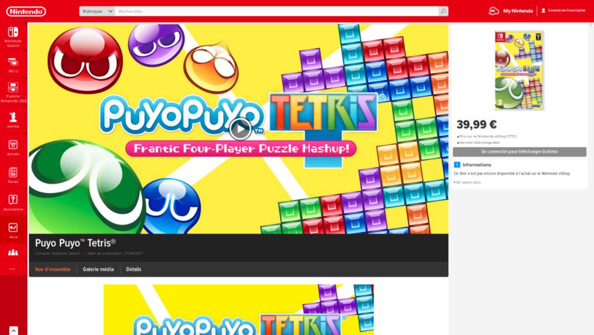 Puyo Puyo Tetris : testez gratuitement le jeu avec une démo disponible sur l'eShop avant sa sortie le 28 avril