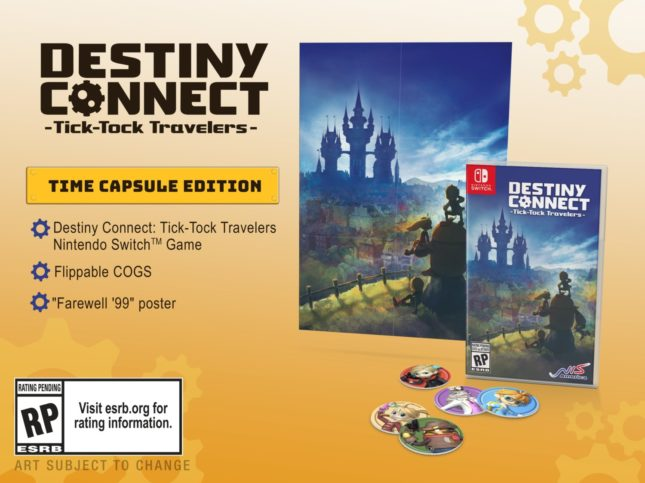 Version physique standard de Destiny Connect: Tick-Tock Travelers sur Nintendo Switch