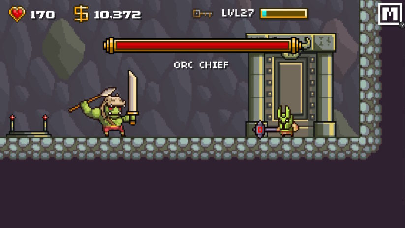 Jeu Devious Dungeon sur Nintendo Switch : Chef des Orcs
