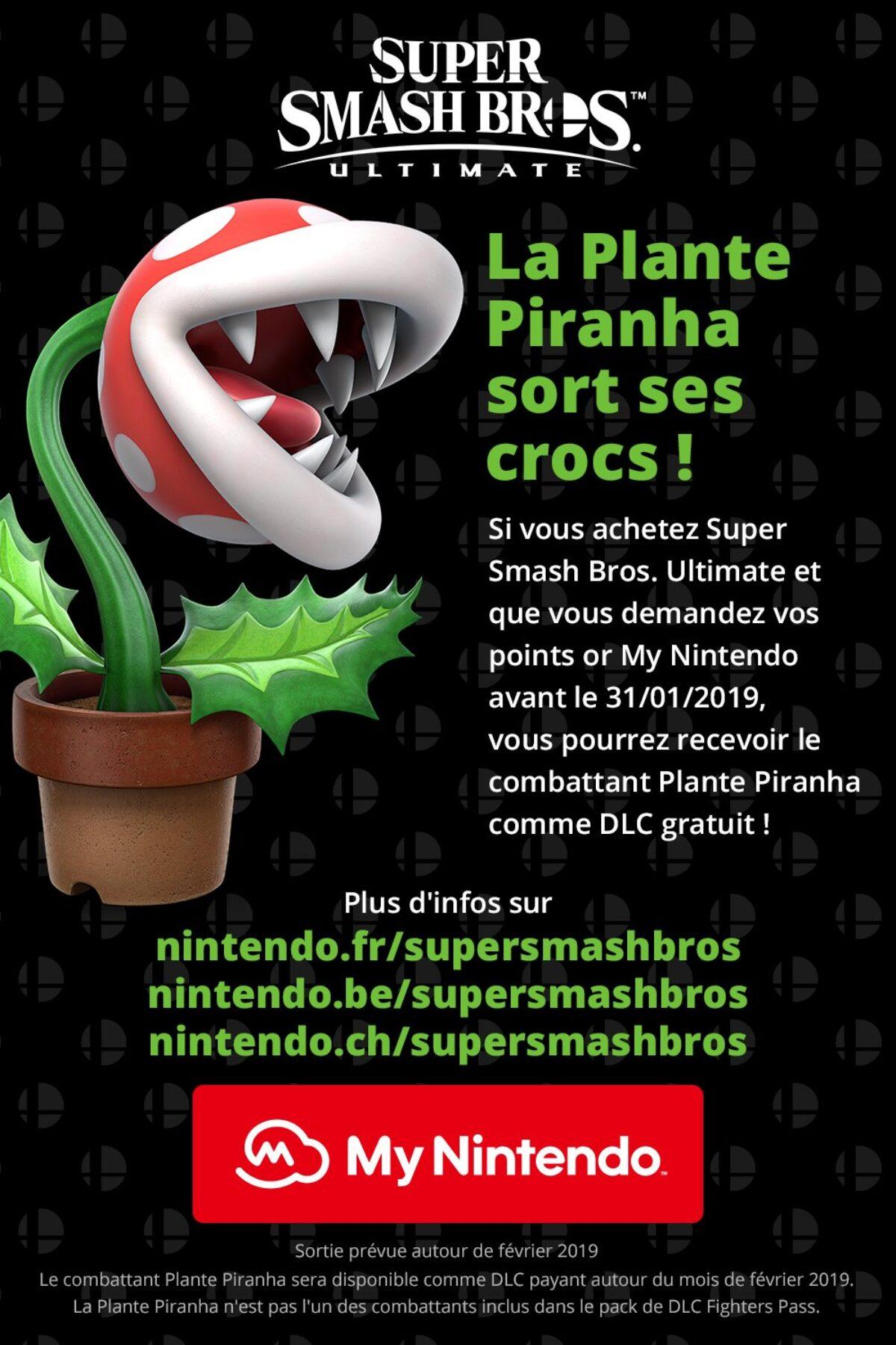 Super Smash Bros. Ultimate : plus qu'une semaine pour obtenir gratuitement le DLC Plante Piranha