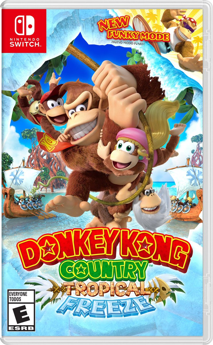 Jeu Nintendo Switch Donkey Kong Country Tropical Freeze : boxart américain