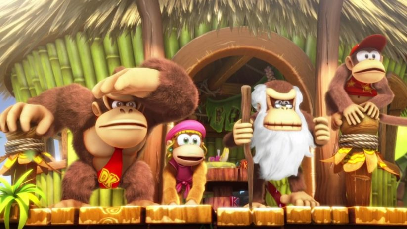 Screenshot du jeu Nintendo Switch Donkey Kong Country Tropical Freeze : DK family