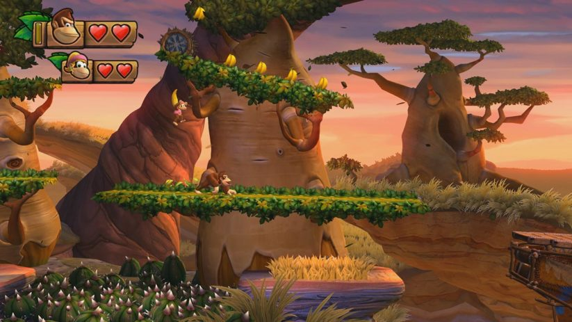 Jeu Donkey Kong Country Tropical Freeze sur Nintendo Switch : Donkey et Dixie