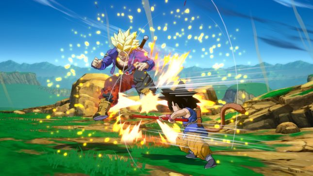 Son Gokû (Kakarot) enfant dans Dragon Ball FighterZ sur Nintendo Switch : screenshot 3