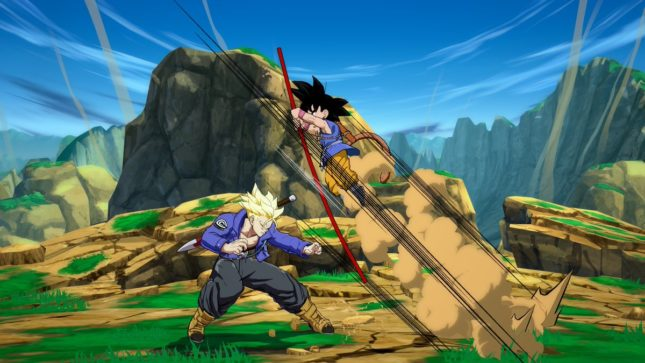 Son Gokû (Kakarot) enfant dans Dragon Ball FighterZ sur Nintendo Switch : screenshot 6