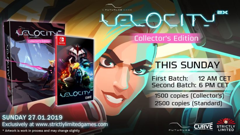 Velocity 2X s'offre une version physique standard et collector exclusive chez Strictly Limited Games