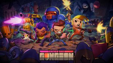 Jeu Enter The Gungeon sur Nintendo Switch : artwork du jeu
