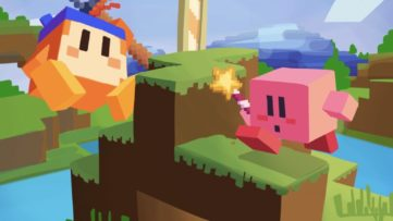 Fan Art KirbyCraft : Minecraft sur Nintendo Switch version Kirbyaisait un jeu de Minecraft version Kirby