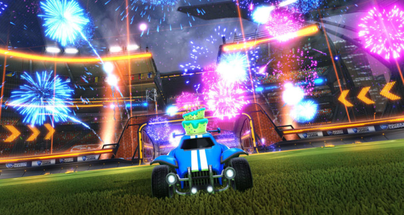 Feux d'artifice dans Rocket League Switch