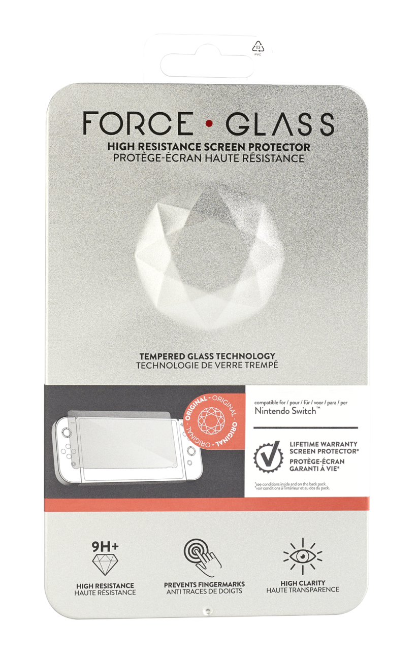 Protège-écran Force Glass distribué par Big Ben : packaging