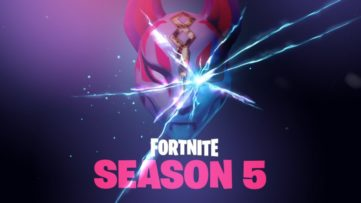 Jeu Fortnite sur Nintendo Switch : affiche de la saison 5