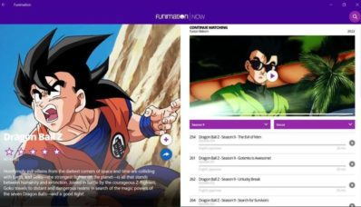 Funimation disponible sur Switch