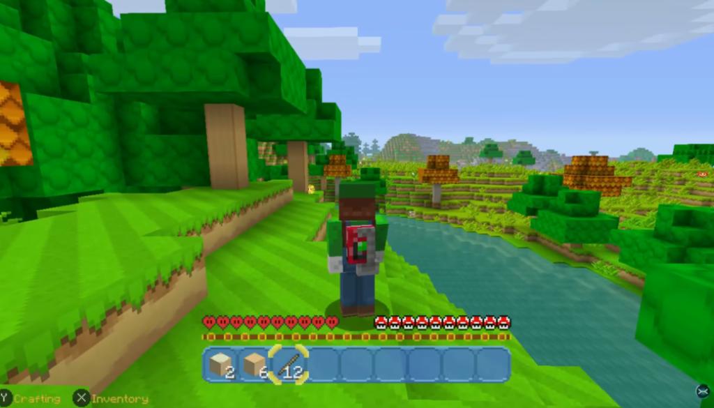 1 heure de gameplay sur Minecraft: Nintendo Switch Edition