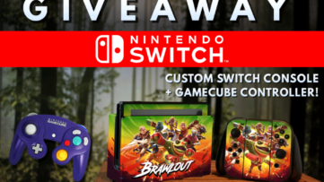 Giveaway : une custom Nintendo Switch Brawlout + une manette GameCube à gagner
