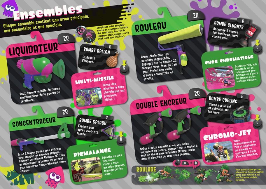 Global Testfire Splatoon 2 : armes en français
