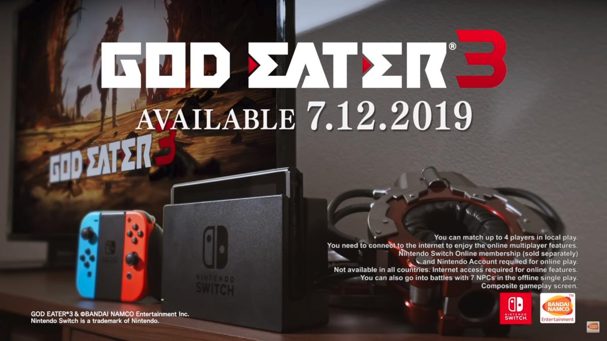 God Eater 3 déclenchera l'apocalypse sur la Nintendo Switch